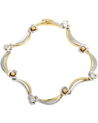 Damiani - 18k Tri-color 0.52 Ct. Tw. Diamond Bracelet - Lyst