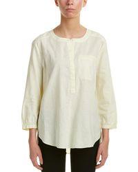NYDJ - Pleated Back Linen-blend Blouse - Lyst