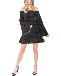 Sugarlips - Dot Stuff Of-the-shoulder Dress - Lyst