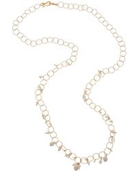 Chan Luu - 18k Over Silver Gemstone & 2-4mm Pearl 32in Necklace - Lyst