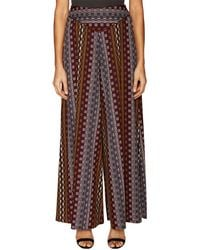ABS By Allen Schwartz - Harvey Geometric Print Wide Leg Pant - Lyst