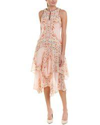 Nanette Lepore - Silk Midi Dress - Lyst