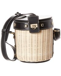 Ferragamo - Small Wicker Bucket Bag - Lyst