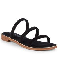 Steven by Steve Madden - Chacha Strappy Suede Slides - Lyst
