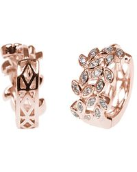 CZ by Kenneth Jay Lane - Rose Gold Plated Huggie Hoops - Lyst