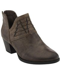 Earth - Merlin Distressed Leather Bootie - Lyst