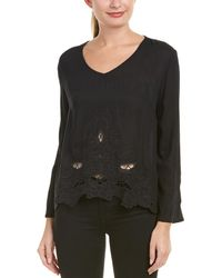 The Hanger - Embroidered Eyelet Top - Lyst