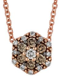 Le Vian - Chocolatier? 14k Rose Gold 0.17 Ct. Tw. White & Chocolate Diamond Necklace - Lyst