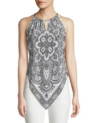 Robert Graham - Clarissa Printed Halter Silk Top - Lyst