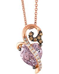 Le Vian - ® Chocolatier® 14k Rose Gold 1.87 Ct. Tw. Diamond & Pink Amethyst Necklace - Lyst