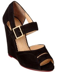 Charlotte Olympia - Marcella 100 Suede Wedge - Lyst