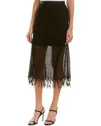 Saloni - London Diana Printed Midi Skirt - Lyst