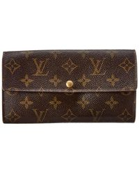 Louis Vuitton - Monogram Canvas Sarah Wallet - Lyst