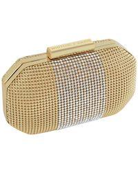Whiting & Davis - Gold Bombe Box Minaudiere - Lyst