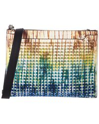 Christian Louboutin - Tie Dye Studded Leather Skypouch - Lyst