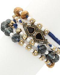 Sparkling Sage - 14k Plated Resin Wrap Bracelet - Lyst