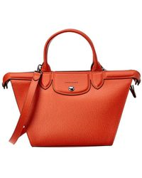 Longchamp - Le Pliage Heritage Medium Leather Tote - Lyst