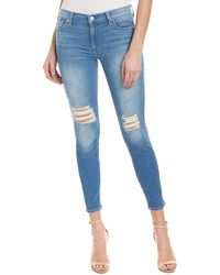 7 For All Mankind - 7 For All Mankind Gwenevere Blue Valley 2 Ankle Cut - Lyst