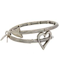 ALEX AND ANI - Valentine's Day Stainless Steel Wrap Bracelet - Lyst