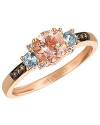 Le Vian - ? 14k Rose Gold 0.70 Ct. Tw. Diamond & Gemstone Ring - Lyst