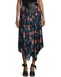 Jill Stuart - Crystal Leather Placket Skirt - Lyst