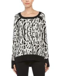 Pam & Gela - Wool Tiger Intarsia High-low Sweater - Lyst