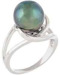 Splendid - Silver 9-10mm Tahitian Pearl Ring - Lyst