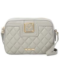 Love Moschino - Quilted Heart Plaque Bag - Lyst