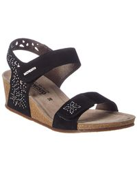 Mephisto Marie Spark Suede Wedge Sandal