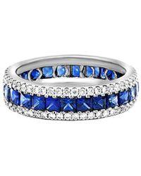 Diana M. Jewels - . Fine Jewelry 18k 3.03 Ct. Tw. Diamond & Blue Sapphire Ring - Lyst