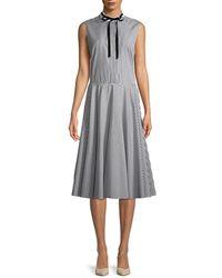 Adam Lippes - Stripes Dress - Lyst