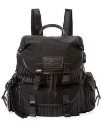 John Varvatos - Collection Striped Leather Backpack - Lyst