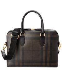 Burberry - Barrow Check Briefcase - Lyst