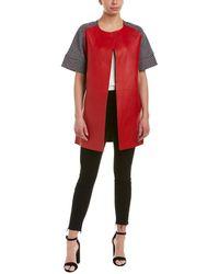 Pinko - Ariano Leather-paneled Coat - Lyst