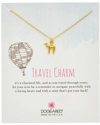 Dogeared - Travel 14k Over Silver Camel Necklace - Lyst