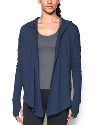 Under Armour - Modern Terry Open Front Cardigan - Lyst
