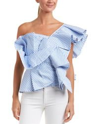 Haute Rogue - One-shoulder Top - Lyst