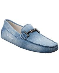 Tod's - Double T Gommino Denim Loafer - Lyst