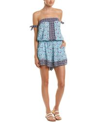Lucky Brand - Tile To Bloom Romper - Lyst