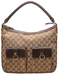 fdc8bdb1953a Gucci Brown Gg Supreme Canvas Abbey D-ring Hobo Bag in Brown - Lyst