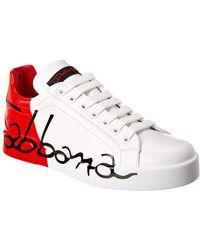 Dolce & Gabbana Portofino Leather Trainer