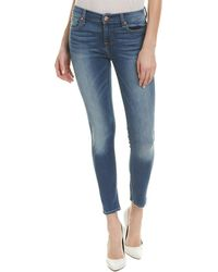 7 For All Mankind - 7 For All Mankind Gwenevere Blue Skinny Ankle Cut - Lyst