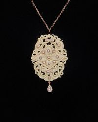 Meira T - Meria T 14k Rose Gold 12.77 Ct. Tw. Diamond & Mamouth Tusk Necklace - Lyst