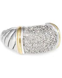 David Yurman - David Yurman Metro 18k & Silver 1.00 Ct. Tw. Diamond Ring - Lyst