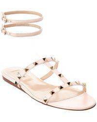 Valentino - Moonwalk Studded Leather Gladiator Sandal - Lyst