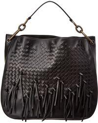 Bottega Veneta - Medium Loop Fringe Intrecciato Leather Hobo Bag - Lyst