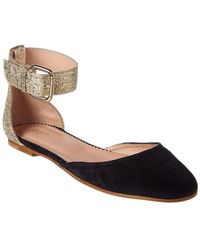 RED Valentino - Dottyred Leather & Suede Ballet Flat - Lyst