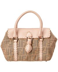 743b7f914e94 Lyst - Fendi Zucca Jacquard Shoulder Bag in Brown