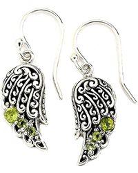 Samuel B. - Silver 0.20 Ct. Tw. Peridot Drop Earrings - Lyst
