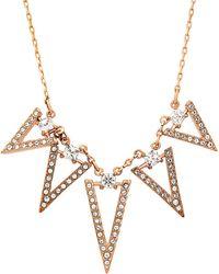 Swarovski - Funk 18k Rose Gold Plated Necklace - Lyst